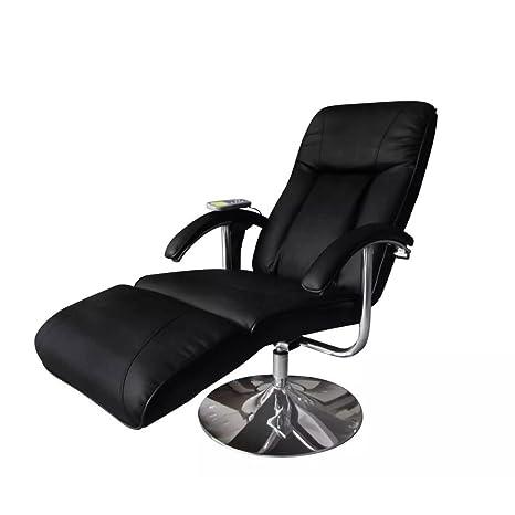 vidaXL - Sillón eléctrico para Masaje y relajación, Color Negro