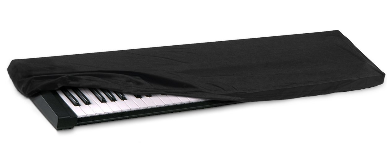 HQRP Elastic Dust Cover w/ Bag for Casio Privia PX-160 / PX160 / PX-160BK / PX160BK / PX-160GD / PX160GD Electronic Keyboard Digital Piano + HQRP Coaster by HQRP (Image #2)