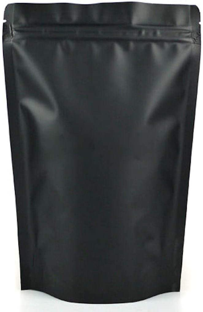 black mylar bags