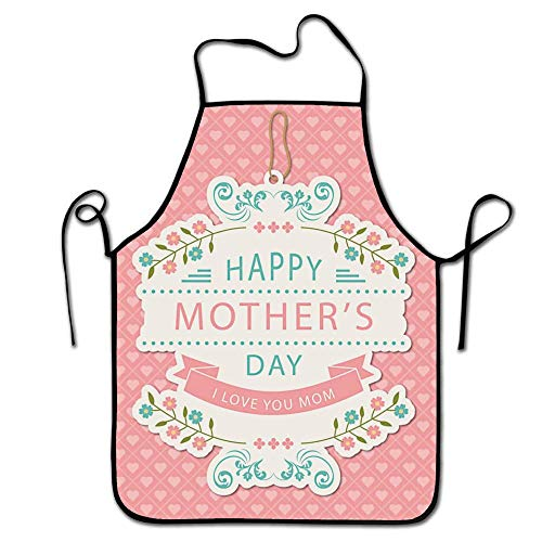 FEDDIY Kitchen I Love U Mom Apron, for