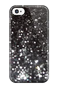 Premium Tpu Glittery Black Cover Skin For Iphone 4/4s