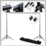 CanadianStudio New 8' x 10' Background Support Backdrop Stand Kit with case and 2 backdrop clamps
