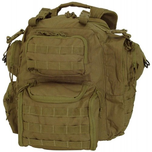 Voodoo Tactical Improved Matrix Pack Backpack MOLLE - Hydration Compatible - 15-9032 Coyote Brown / Tan by VooDoo Tactical