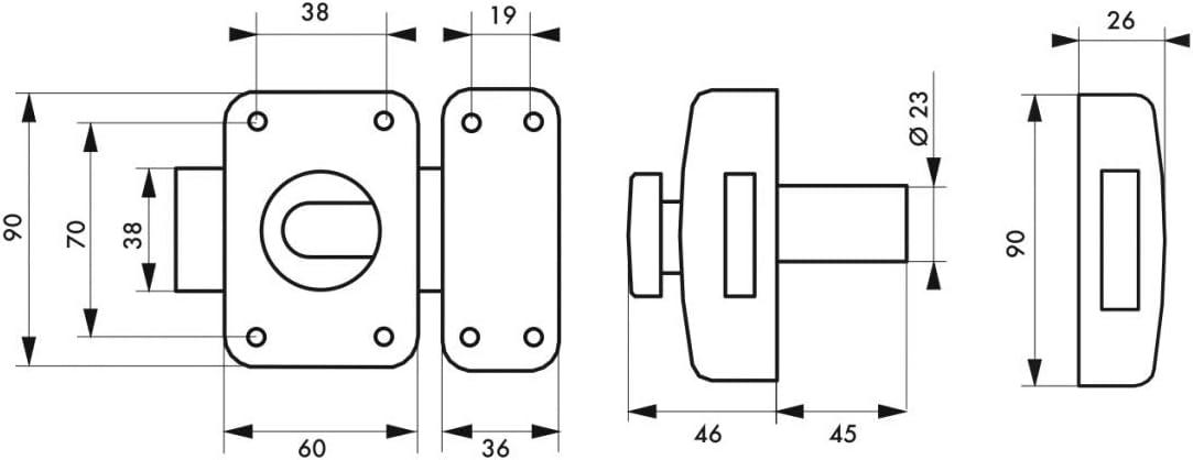 SERRUPRO Verrou haute s/écurit/é pour porte dentr/ée avec 4 cl/és