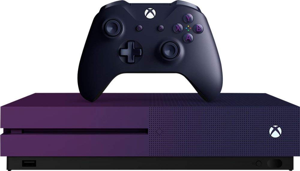 Microsoft Xbox One S Limited Edition Gradient Purple 1TB Console with Wireless Controller and 4K Ultra HD Blu-Ray