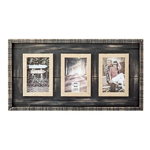 "51WZdkcBIjL - Prinz 3 Opening Madison Wood Collage Frame, 4 x 6"", Black/Natural"