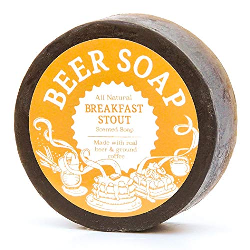 Beer Soap (Breakfast Stout) - All Natural + Made in USA - Actually Smells Good! Perfect Gift For Beer Lovers