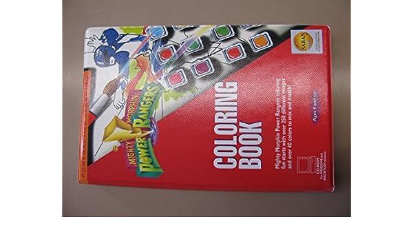 Mighty Morphin Power Rangers Coloring Book Saban Amazon Books