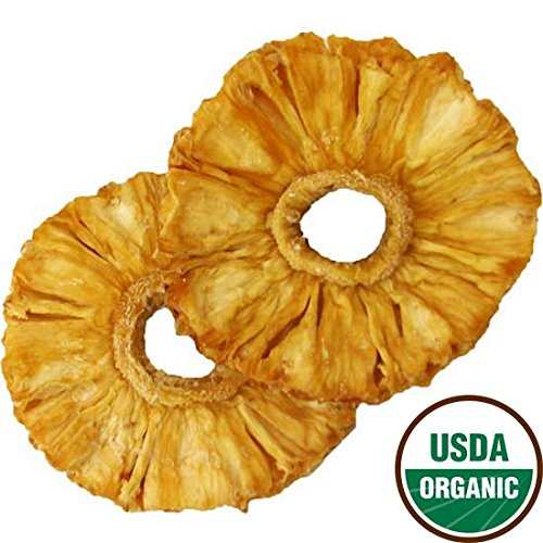 Organic Dried Pineapple Rings, 2.5lbs by Bella Viva Orchards Dried Fruit