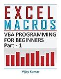 Excel Macros: VBA Programming for Beginners Part 1