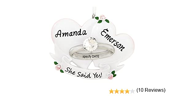 Amazon.com: Engagement Ring Marry Me Personalized Christmas Tree ...