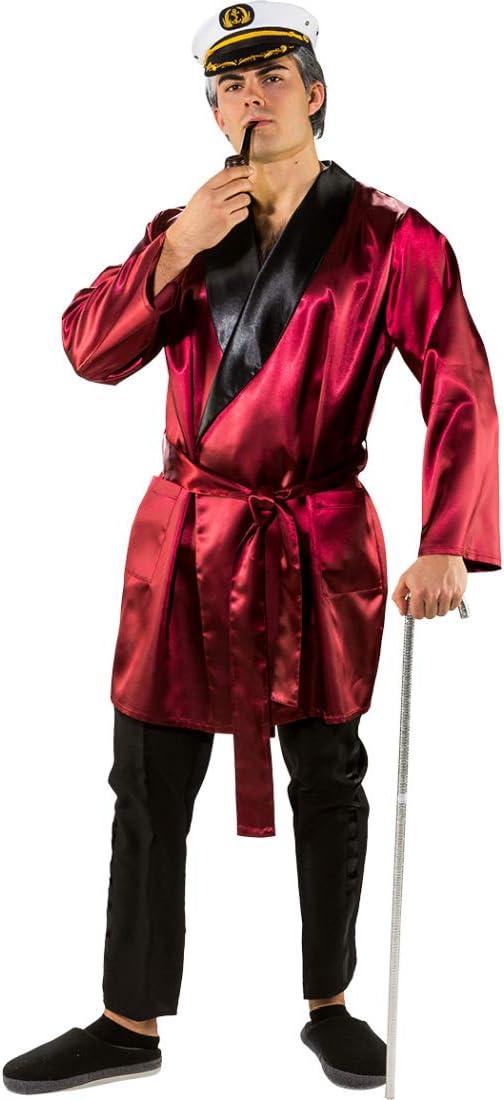 Bata señor de la casa Efecto Satín para Hombre / Rojo Oscuro ...