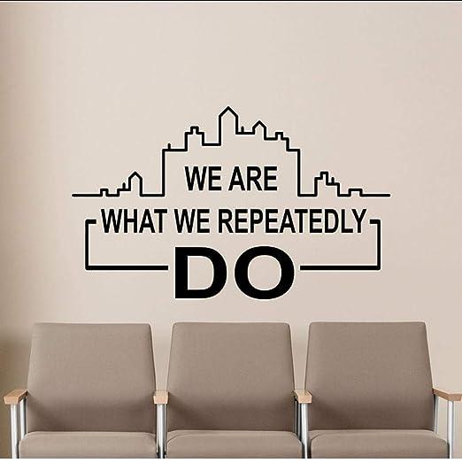 Somos lo que hacemos Etiqueta de la pared Cartel Oficina ...