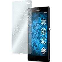 2 x Sony Xperia Z Protection Film Tempered Glass clear - PhoneNatic Screen Protectors