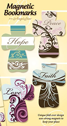 Angelstar Magnetic Cross, Includes Four Separately Designed Bookmarks with Sayings, 2-1/2-Inch
