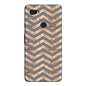 Cover It Up - Brown Grey Tri Stripes Pixel 2 XL Hard case
