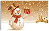 ShineSnow Snowman Christmas Holiday Winter Snow Gift Happy New Year 3x5 Feet Flag, Polyester Double Stitched with Brass Grommets 3 X 5 Ft Flag for Outdoor Indoor Decor