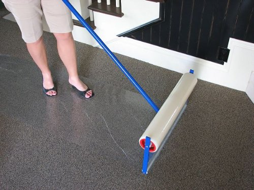 Plasticover Carpet Protection Film Temporary Adhesive Plastic Clear 24 Wide By 200 Long