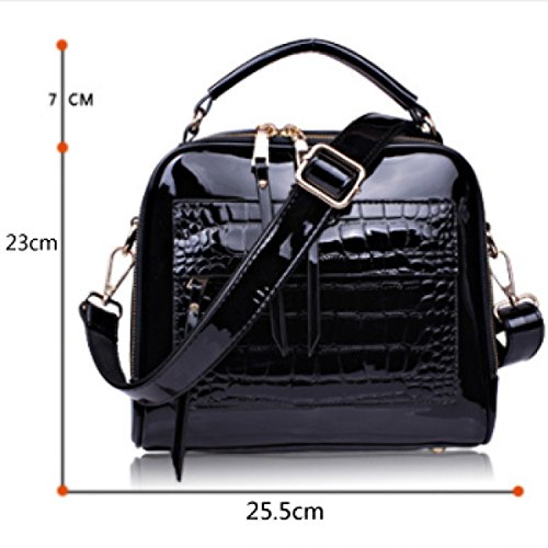 Handbags Bag Bag Leather WineRed Shoulder Cross Handbag Diagonal Leather Patent Fashion bag pqAw1dxdna
