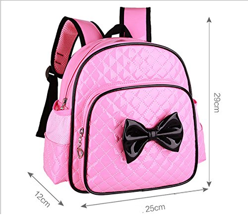 Students Zhuhaixmy Bow fPrimary Children PU Backpack Leather Pink Waterproofrose School Bags aBTnxBSPq