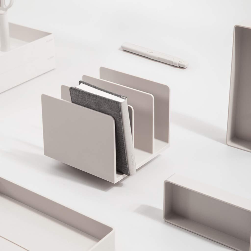 Dateihalter Stand Buchen Bürobedarf Drei Raster Raumgestaltung Sortierung Dokumentenablage Buchbearbeitung Einfacher Nordischer Stil (Farbe    1) B07MV7RV24 | Gute Qualität