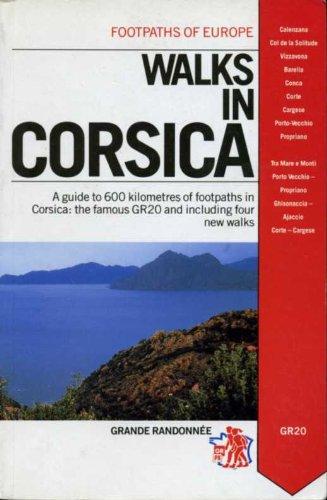 Blue Footprints Italian - Walks in Corsica (Footprints of Europe)