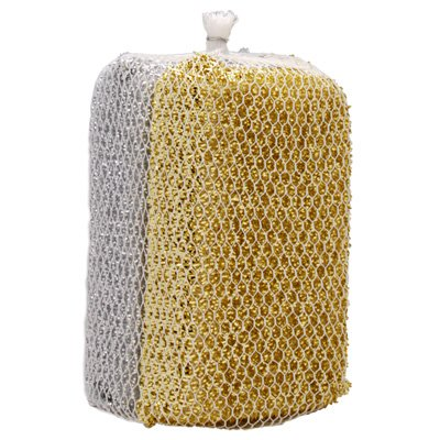 EZ Brite Deluxe Non-Scratch Multi-Surface Scrubber Set, Silver/Gold, -