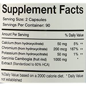 Garcinia Cambogia *** 100% Pure Garcinia Cambogia Extract with HCA, Extra Strength, 180 Capsules, All Natural Appetite Suppressant, carb blocker, Weight Loss Supplement
