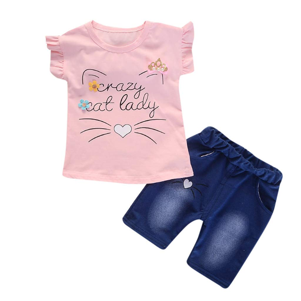 1a288ad3b35 Toddler baby girls ruffle cartoon cat letter print jpg 1024x1024 Brazy baby  outfits