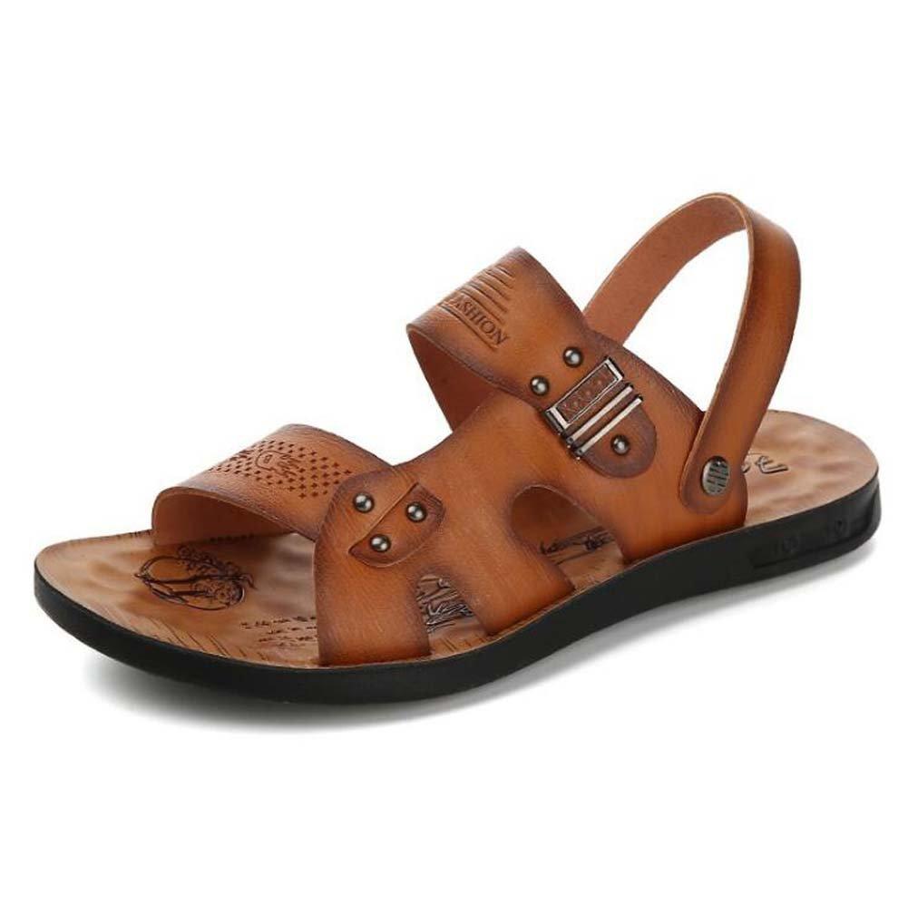 Herren Strandschuhe Flut Abschnitt Sandaleen Slip Breathable Fashion Sandaleen Braun/Gelb/Khaki Größe 38-44 Outdoor