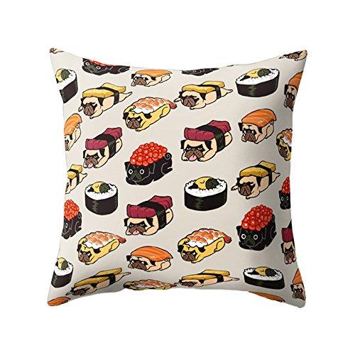 Wintefei Cartoon Animal Print Pillow Case Sofa Cushion Cover?for Bedroom Living Room Decor