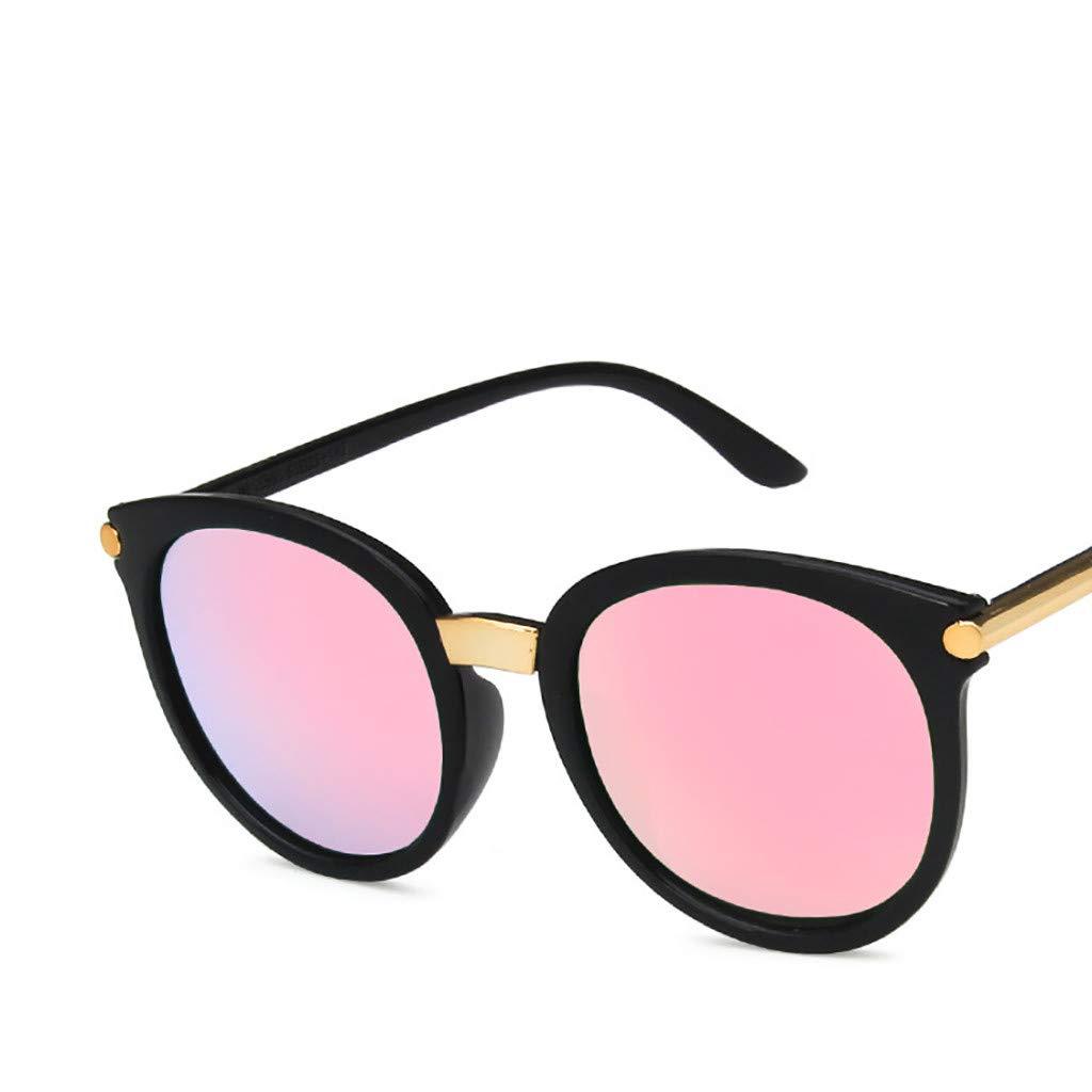 Fashion Round Sunglasses for Women Men Haluoo Vintage Oversized Shades Classic Trendy Stylish Cat Eye Eyeglasses UV 400 Protection Sun Glasses for Outdoor Sport Driving Travel