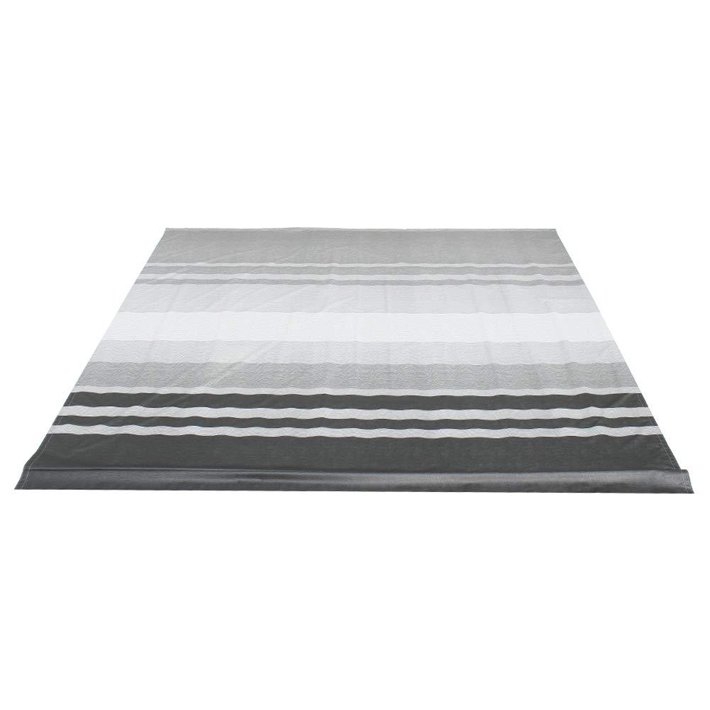 ALEKO RVFAB13X8BLKST33 RV Awning Fabric Replacement 13 x 8 Feet Black Striped