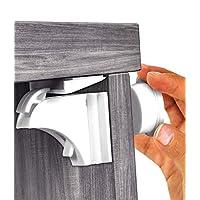 Skyla Homes - Cerradura de gabinete magnética (paquete de 12) | No se necesitan herramientas - Adhesivo 3M | Increíble para la cocina de pruebas para bebés y los candados para niños | Diseño de calidad | Seguridad infantil | Cerraduras de gabinete |