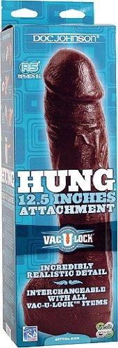 DOC negro JOHNSON Hung realista consolador negro DOC Vac-U-Lock 32 cm 640412