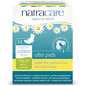 Natracare Natural Ultra Pads with Wings, Regular,14 Count