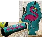 Luggage Tag and Handle Wrap Set - Flamingo