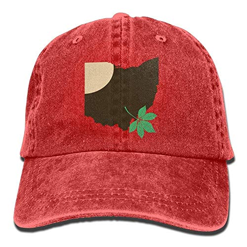Ohio State Buckeye Leaf Snapback Casual Baseball Hat Denim Hat for Men and Women Ajustable