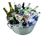 Kraftware Party Tub - 19'' inch Doublewall Insulated Stainless-Steel, Back Yard BBQ Beer Tub Great for Weddings, Special Events and Parties