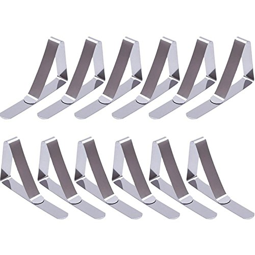 eBoot 12 Packs Tablecloth Clips Stainless Steel Table