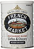 French Market Restaurant Blend Medium- Dark Roast Coffee & Chicory, 12oz can (24 Pack)