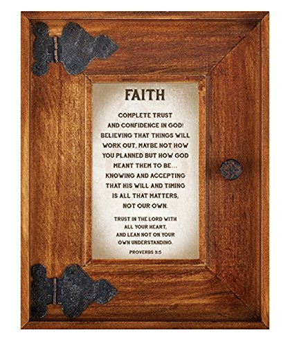 LoveLea Down Home Collection Tabletop Frame, Faith by CB Gift