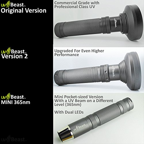 uvBeast NEW VERSION 2 - Black Light UV Flashlight with HIGH DEFINITION 100 LED with Flood Effect 385-395nm UV Best for Commercial/Domestic Use Works Even in Ambient Light - Registered Design by uvBeast (Image #8)