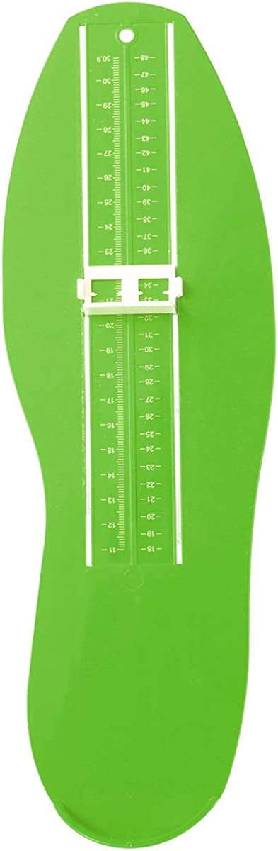 SOONHUA 0-30cm Foot Measuring Device US And EU Size Foot Measure Gauge Shoe Sizer GREEN