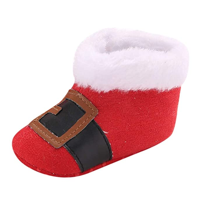 TAIYCYXGAN Baby Boys Girls Christmas Slipper Shoes Toddler Booties Red Shoes & Bags