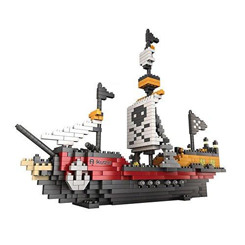 - Rikuzo Pirate Ship Model Building Block Set 780pcs - Nano Micro Blocks Diamond DIY Toys