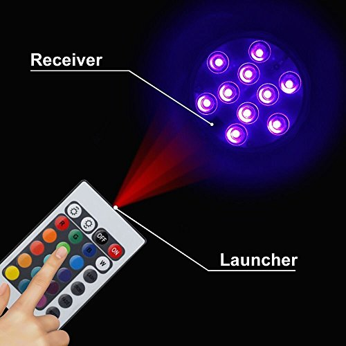 submersible led lights remote control underwater battery operated