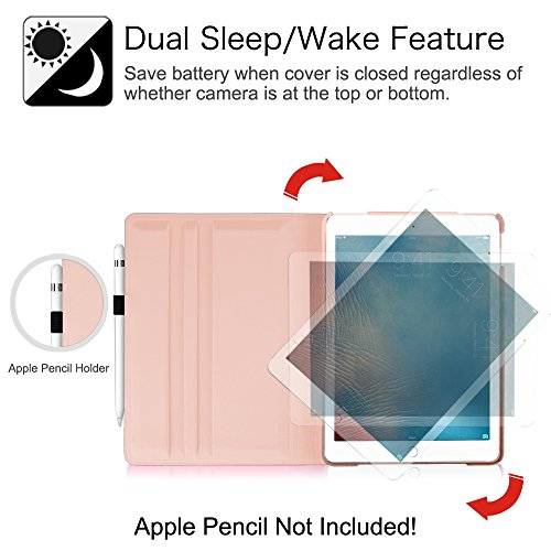 Fintie iPad Pro 9.7 Case - 360 Degree Rotating Stand Case with Smart Cover Auto Sleep / Wake Feature for Apple iPad Pro 9.7 Inch (2016 Version), Rose Gold Photo #10