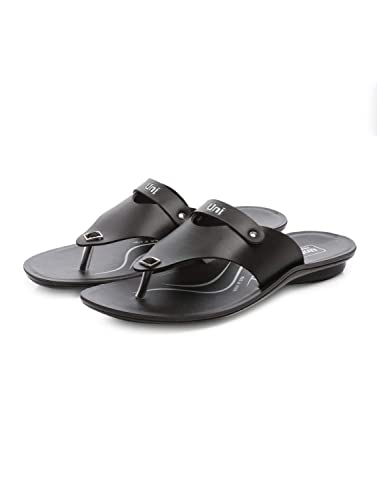 2bd62732740a96 Unistar PU Slipper for Men   GSP 103-Black  Buy Online at Low Prices in  India - Amazon.in