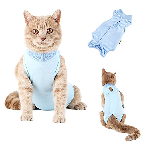 Havenport Recovery Suit for Cat, Sterilization Care Wipe Medicine Prevent Lick After Surgery Wear Weaning and Keep Warm After Shaving Daily Wear Recovery Cloth Suit for Cats Dogs Pets